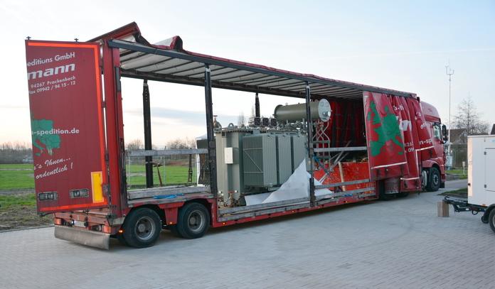 Trafoanlieferung für das UW-Nord der Stadtwerke Soest