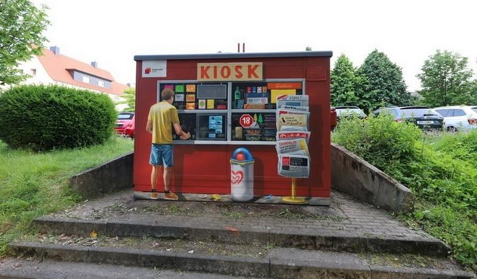 Stadtwerke Soest - Als Kiosk gestaltete Station an der Briloner Straße
