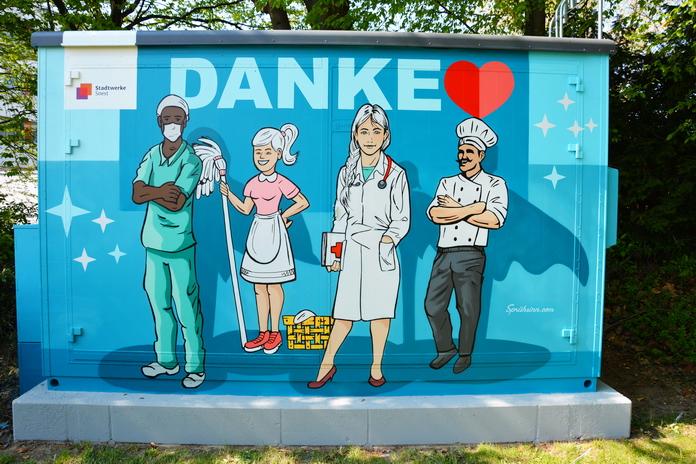 Streetart am Klinikum - Stadtwerke Soest